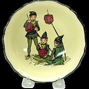 Rare Doulton series ware bowl-Pixies with Lanterns
