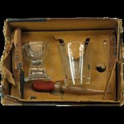 Original 1937 eyewash cup Eye bath set with EYE on it