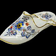 Large vintage Meissen porcelain slipper shoe for cabinet