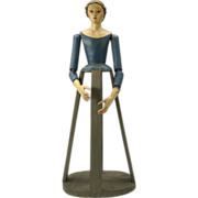 "SALE PENDING Best antique weeping Santos cage creche doll 19 1/2"""