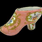 Antique enamel Ladies shoe Bilston or Battersea