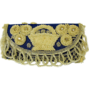 Amazing thickly beaded Victorian silk sewing case
