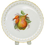 """Hand painted KPM cabinet plate featuring a PEAR 8"""""""