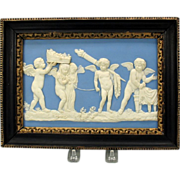 SALE 18th Century Wedgwood jasper plaque-Marriage of Cupid and Psyche