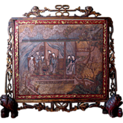 1920's insane Chinese fire screen converts to table Exhibition or special order