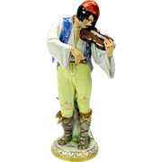 Large Meissen porcelain Violinist-Violin player AS IS late 19th Century