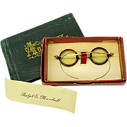 SALE Victorian Doll or Teddy miniature spectacles original box & 1872 Autograph Album