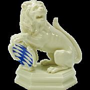 "Vintage Nymphenburg porcelain Lion of bavaria figure with colored shield 5"""