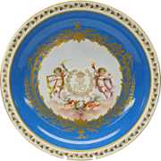 """Large early Sevres porcelain center bowl  with Cherubs Chateau De Neuilly 12 3/8"""""""