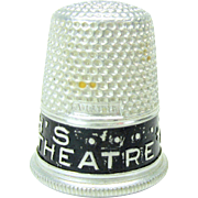 Vintage advertising thimble for Keith's Greenpoint Movie Theatre RKO