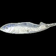 Vintage nickel plated figural fish pocket knife