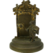 Whimsical antique bronze letter holder Bear in French Military outfit