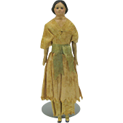 "8 1/2"" all original paper mache head Milliner type doll"
