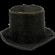 Rare antique miniature Beaver Top Hat 19th Century