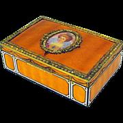 Vintage 1920's all enamel dresser box