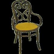 Vintage 1979 Malcolm Thomas miniature doll house chair.