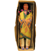 "16 1/2"" Skookum American Indian doll in the original box"