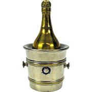 Rare Victorian travelling inkwell Champagne bottle in ice bucket