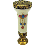 Jeweled porcelain silver gilt Ladies wax seal