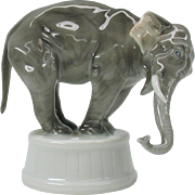 Vintage Rosenthal porcelain Circus type Elephant figure designed by Diller 1913