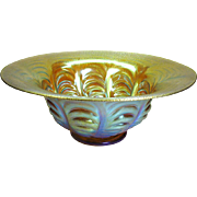 Fantastic Art Deco WMF iridescent art glass large center bowl