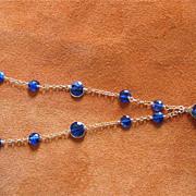 18K Solid Gold~AAA Cobalt Blue Kyanite & Labradorite Necklace~ Gorgeous!!