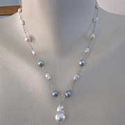 SALE 14K White Gold~ Multitude of Pearls Necklace ~2014