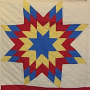 Five Star Quilt with Red Borders