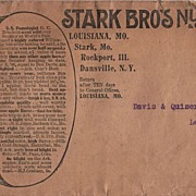Stark Brothers Nurseries Orchards Louisiana MO Letter