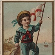 Boy in a Sailor Suit with Flag