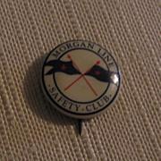 Morgan Line Safety Club Pinback Button -Made Dallas TX