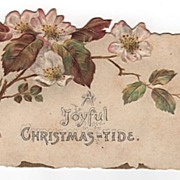 Joyful Christmas-Tide Die Cut Christmas Card