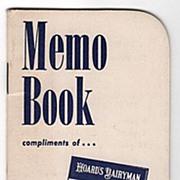 1965-66 Pocket Memo Bk Hoard's Dairyman Ft Atkinson WI