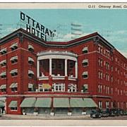 Ottaray Hotel Greenville South Carolina SC Postcard