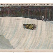 Whiteface Curve Olympic Bob Run Lake Placid NY PC