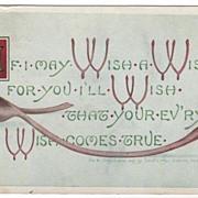 Wishbones Copyright 1907 Leota Way Denver CO Colorado Greetings Postcard