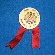 Grand Lodge I O O F Pocatello ID Idaho 1926 Vintage Pinback Button