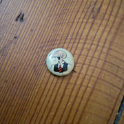 Andy Gump Kellogg's Pep Famous Artists Syn Vintage Pinback Button