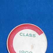 C Class of 1900 Vintage Pinback Button