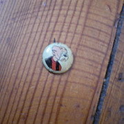 Rip Winkle Kellogg's Pep Famous Artists Syn Vintage Pinback Button
