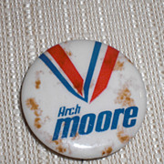 Arch Moore for Governor GOP WV West Virginia Candidate Pinback Button