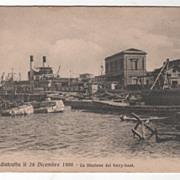 Messina Italy distrutta il 28 Dicembre 1908 - La stazione del ferry-boat PC