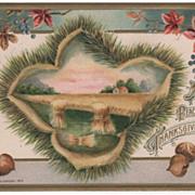 SOLD Winsch A Peaceful Thanksgiving postcard farm scene - copyright 1912