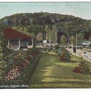 Mt Park Pavilion near Holyoke MA Massachusetts Postcard