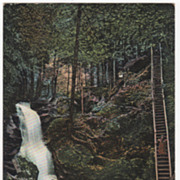 Cascade Falls Royalston MA Massachusetts Postcard - Postmarked Dec 19 1906