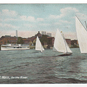Springfield MA Massachusetts On the River Postcard - Sailboats