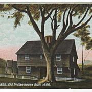 Deerfield MA Massachusetts Old Indian House Built 1686 Postcard