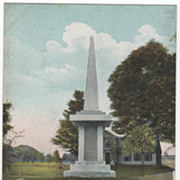 South Deerfield MA Massachusetts Bloody Brook Monument Postcard