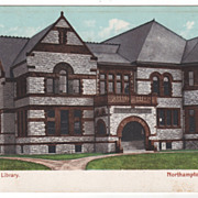 Forbes Library Northampton MA Massachusetts Postcard