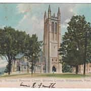 Thompson Mem Chapel Williams College Williamstown MA Massachusetts Postcard